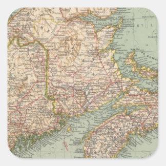 129 Maine, Nova Scotia, New Brunswick, Quebec Square Sticker