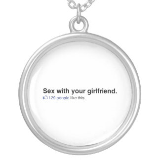 129 People like your girlfriend Round Pendant Necklace