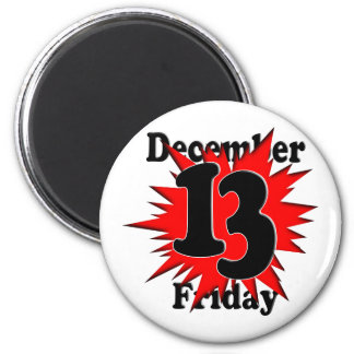 12-13  Friday the 13th Refrigerator Magnet