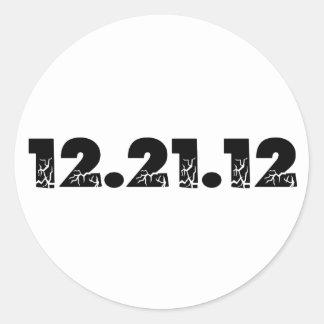 12.21.12 2012 December 21, 2012 Classic Round Sticker