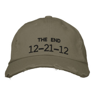 12-21-12 THE END EMBROIDERED HAT