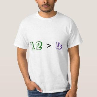 12 > 4 T-SHIRTS