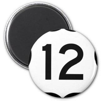 12 6 CM ROUND MAGNET