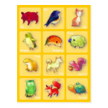 12 Animals Postcard(Customisable)