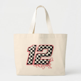 12 auto racing number canvas bag
