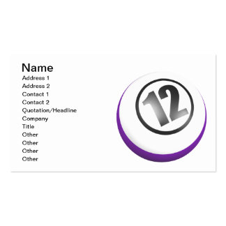 12 Ball Pack Of Standard Business Cards