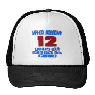12 birthday designs cap
