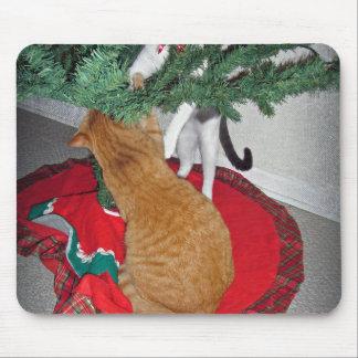 12 Cats a-Climbing Mouse Pad