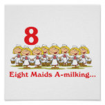 12 days eight maids a-milking
