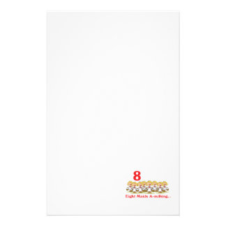 12 days eight maids a-milking customized stationery