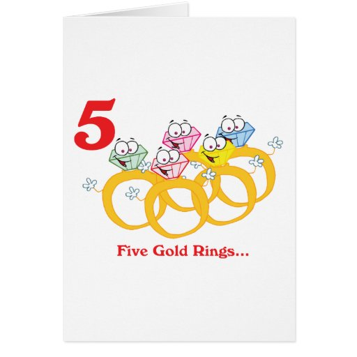 12 days five gold rings cards