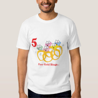 12 days five gold rings t-shirts