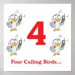 12 days four calling birds