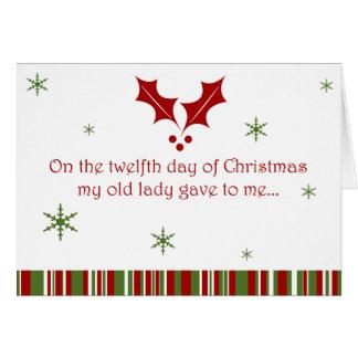 12 Days of a Redneck Christmas Card