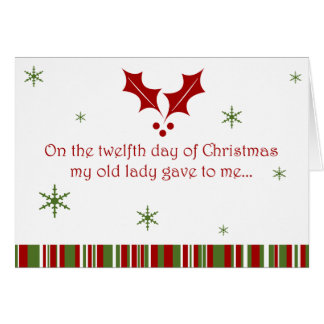 12 Days of a Redneck Christmas Greeting Card
