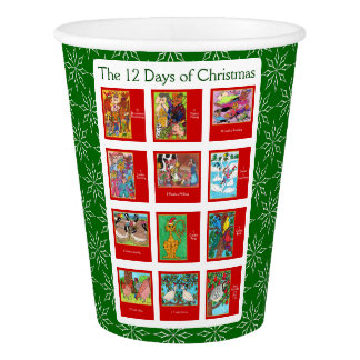 12 Days of Christmas Cute Animals Paper Cup