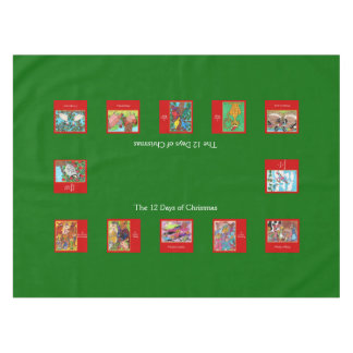 12 Days of Christmas Cute Animals Tablecloth