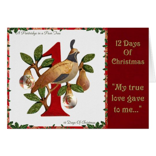 12 Days of Christmas Partridge in a Pear