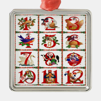 12 Days Of Christmas Quilt Print Gifts Christmas Ornament