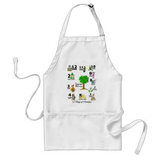 12 Days of Christmas Standard Apron