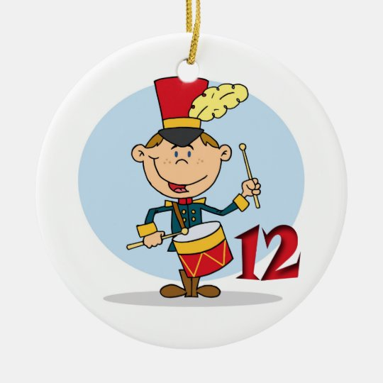 12 Days of Christmas Twelve Drummers Drumming Round