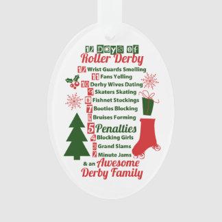 12 Days of Roller Derby Christmas, Roller Skating Ornament