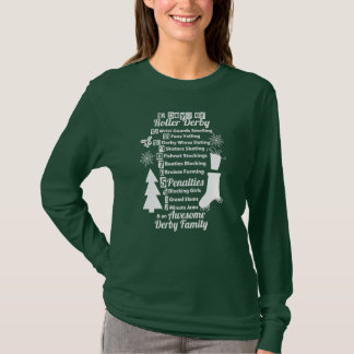 12 Days of Roller Derby Christmas, Roller Skating T-Shirt