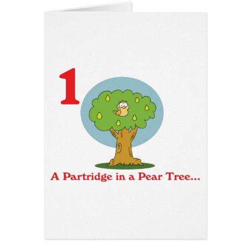 12 days partridge in a pear tree greeting card