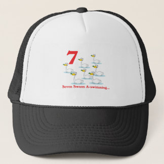 12 days seven swans a-swimming trucker hat