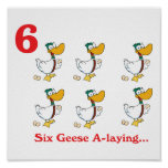 12 days six geese a-laying