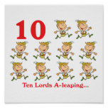 12 days ten lords a-leaping