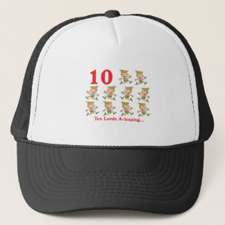 12 days ten lords a-leaping cap
