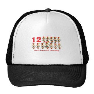 12 days twelve drummers drumming cap