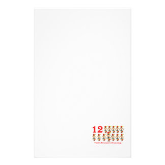 12 days twelve drummers drumming stationery paper