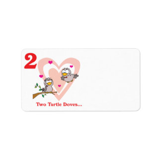 12 days two turtle doves address label