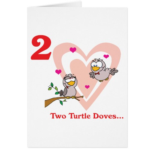 12 days two turtle doves cards