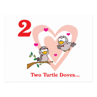 12 days two turtle doves postcard