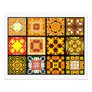 12 Different Tea Bag Tiles - Origami Folding 11.5 Cm X 14 Cm Flyer