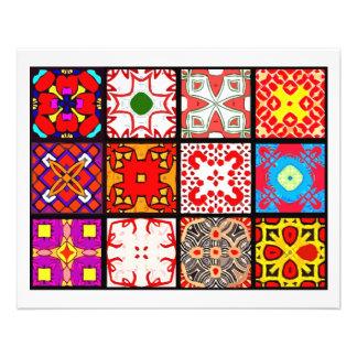 12 Different Tea Bag Tiles - Origami Folding Flyer Design