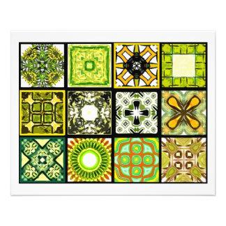 12 Different Tea Bag Tiles - Origami Folding Flyer