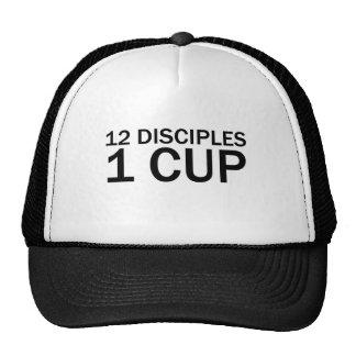 12 DISCIPLES, 1 CUP Funny Last Supper T-Shirt Cap