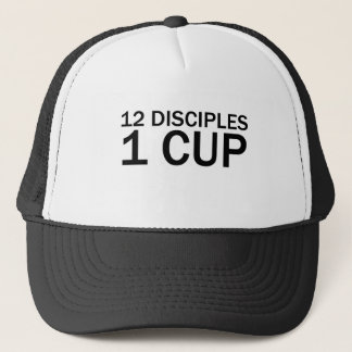 12 DISCIPLES, 1 CUP Funny Last Supper T-Shirt Trucker Hat