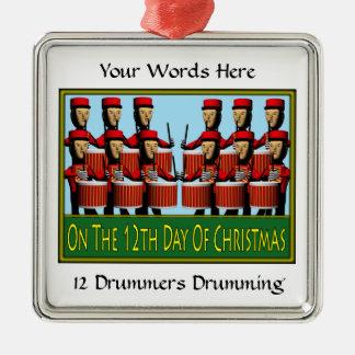 12 Drummers Drumming Christmas Ornament