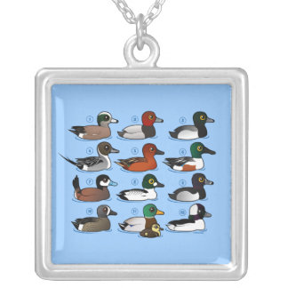 12 Ducks Silver Plated Necklace