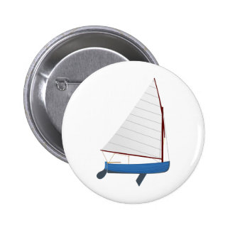 12 Foot Sailing Dinghy 6 Cm Round Badge