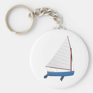 12 Foot Sailing Dinghy Key Ring