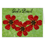 12 Gods Pencil Stationery Note Card