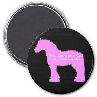 12 Hands Draft Horse 7.5 Cm Round Magnet