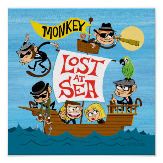 "12"" Monkey: Lost At Sea Album Art Poster"