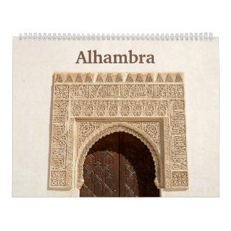 12 month Alhambra & Generalife 2017 Wall Calendar